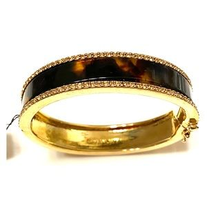 ✨NWT Givenchy Gold Tortoise Bangle w/Gold Crystals